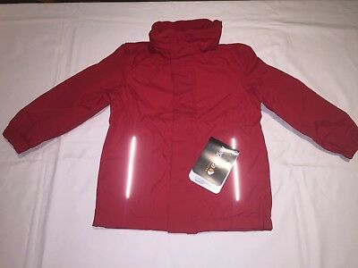 CLEARANCE REGATTA KIDS SQUAD WATERPROOF INSULATED JACKET. Classic Red x 34.