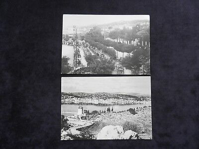 2 Reproduction Image Greek Postcards, Views Of Argostoli, The Square, Windmill