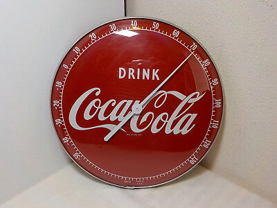 Vintage Drink Coca Cola Round Thermometer 495A