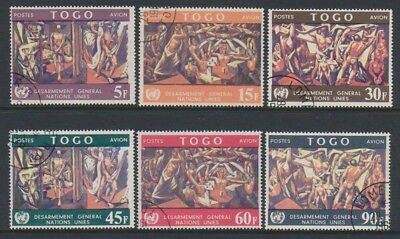 Togo - 1967, Disarmament Paintings set - CTO - SG 533/8