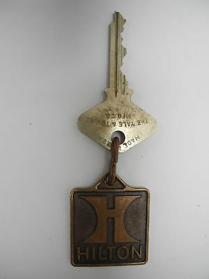 Vintage Hilton Hotel Baltimore, MD Room 802 Key and Brass fob