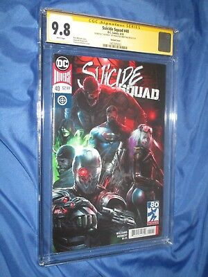 SUICIDE SQUAD #40 CGC 9.8 SS Signed Francesco Mattina~DC Comics/Variant/Superman