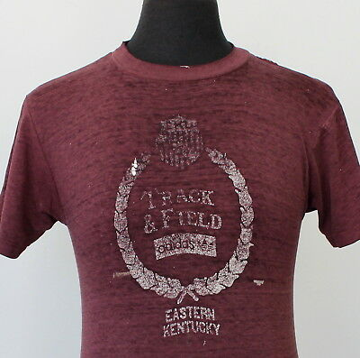 vintage 80s BUTTERY SOFT paper thin FADED print T SHIRT small ROCKER