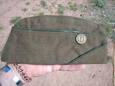 W.w. 2 U.s. Army Overseas Hat Made Of Wool Dated 1942 Engineer Small Size