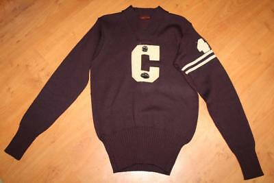 1920's O'Shea Knitting Mills Burgundy #43 Football Basketball Sweater