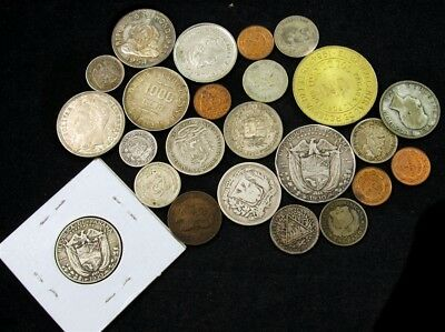 Lot of 24 Central/South American Coins - Different Dates & Countries