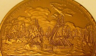 Big Vintage Captain Oliver Hazard Perry 1813 Lake Erie Naval Battle Mint Medal!