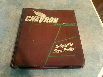 Vintage Chevron 3 Ring Binder.Wings.Standard Oil.Gas Station.Delco Remy.1950's.