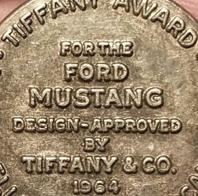 Rare Vintage Sterling SIlver TIFFANY & CO 1964 FORD MUSTANG AWARD Pendant Charm