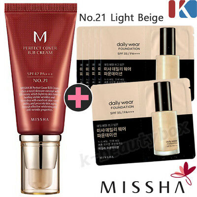 MISSHA M Perfect Cover BB Cream No.21 Light Beige, MISSHA Daily Wear Foundation