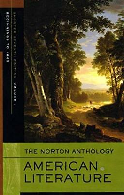 The Norton Anthology of American Literature Shorter Vol. 1 by Levine