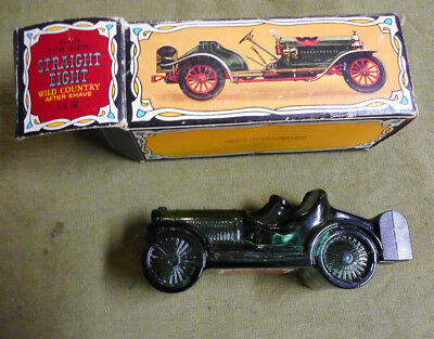 #aa.  Avon Straight Eight Antique Car  After Shave  In Original Box, Empty