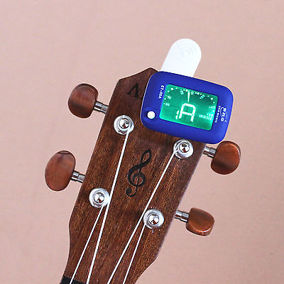 Clip-on LCD Electronic Digital Chromatic Guitar Bass Violin Ukulele Tuner Blue