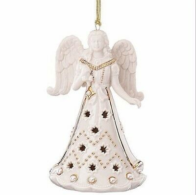 Lenox Florentine and Pearl Angel Christmas Ornament NEW IN BOX!