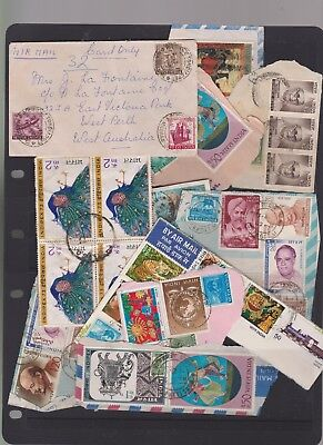 INDIA stamps 2PAGES 2 SCANS ON PIECE