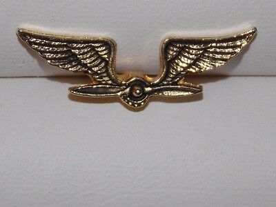 Military Air Corps Pilot Wings Propeller Lapel Pin Tie Tack Vintage?