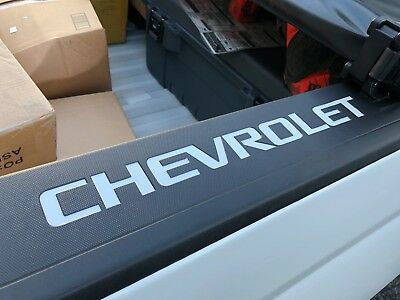 Colormatched Summit White Bed Rail Cap Vinyl Decal Inserts 2014-2018 Silverado