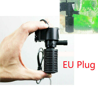 Ultra Silent Aquarium Fish Tank Oxygen Air Pump Filter High Energy 220V EU Plug