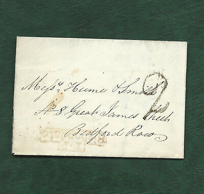 GB 2 old items of postal history stampless items BISHOPGATE