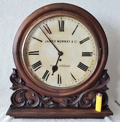 Winterhalder & Hofmeier Fusee Mantel Wall Clock Murray & Co 1880 Black Forest