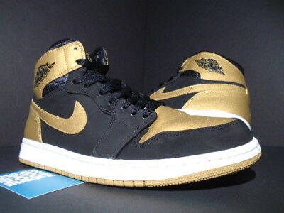 107c689ed7e9f7 Nike Air Jordan I Retro 1 High MELO CARMELO BLACK GOLD WHITE 332550-026 OG