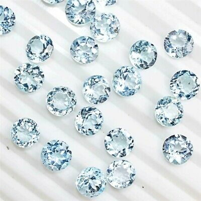 Wholesale Lot 9x9mm Round Facet Cut Natural Blue Topaz Loose Calibrated Gemstone