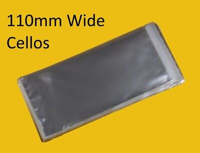 Clear Cello Bags - 110mm Wide - Cellophane Display Bag Small Gifts & Jewellery