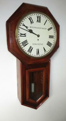 Large single fusee station clock 36 inches