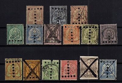 P77066/ Tunisie Fr / French Tunisia / Postage Due / Lot 1888 - 1901 Obl / Used