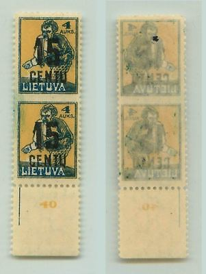 Lithuania 1922 SC 153 mint missing perf pair . f3125