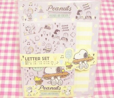 Sun-Star / Peanuts Snoopy Friend School Time Letter Set / Japan Stationery