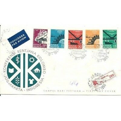 Fdc Indonesia 1959 Conference Piano Colombo Mf16446