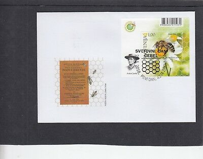 Slovenia 2018 Bees MS First Day Cover FDC Zirovnica pictorial h/s