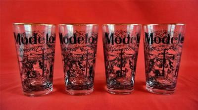 Set of 4 Modelo Especial 16 oz Mixing Drinking Glasses Bar Man Cave 345867 INK