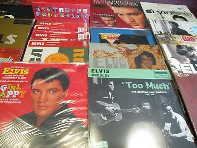 Elvis Presley Vinyl Collection Of Mostly Rare Out Of Print Titles 20 W/ 30 Sides