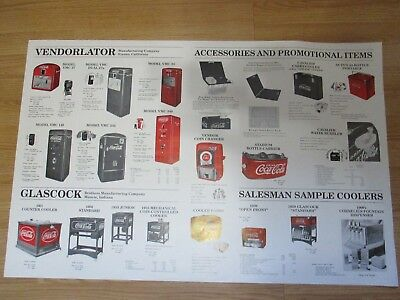 """Vintage Coca-Cola Machine Poster Large Double Sided poster 24"""" x 37"""" 1995 Poster"""
