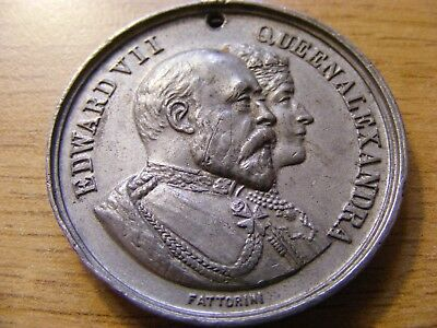 A 1902 Edward VII Coronation Medal with hole- nice Condition - 38mm Dia