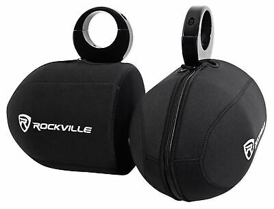 "Pair Rockville RWBC80 Neoprene Covers For 8"" Marine Wakeboard Tower Speakers"