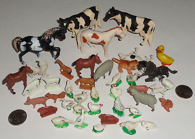 Farm Animals (mostly) Lot of 40 Very Good Condition Various Scales