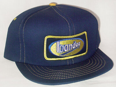 Vintage 1980s Snapback Trucker Hat BANDAG TIRE Patch Made In USA Swingster Cap