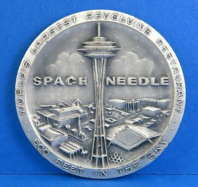 Space Needle 1962 Seattle World's Fair Official Medal - .999 Silver 31g