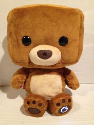 Fisher Price Interactive Smart Bear Toy Brown Square Head