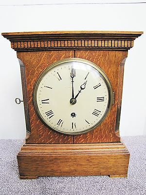 Antique English Maple London Bracket Mantel Clock Highly Collectable