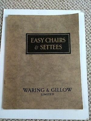 Waring & Gillow rare 1920 catalogue Easy Chairs & settees Furniture UK London