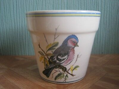 Brixham Pottery Posy Small Planter with Birds Pictured