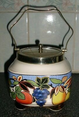 Vintage Regent EPNS Large Sugar Bowl With Silver Plated Top Lid And Handle
