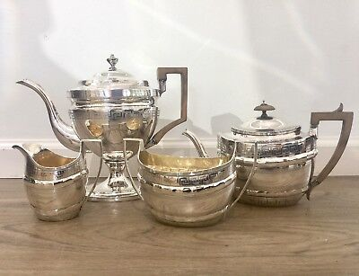 4 Piece Georgian English Sterling Silver Teaset circa 1805
