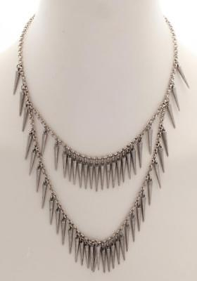 SOPHIA BUSH Ben Amun Silver Spiked Chain Necklace