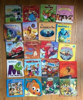 Lot 20 Kids Picture Books DISNEY Most Movies Nemo Little Mermaid Cars P8
