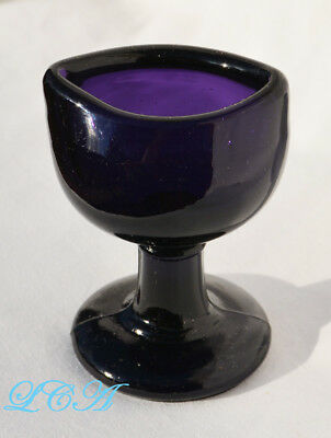 Superb PURPLE AMETHYST original MADE IN ENGLAND antique EYE WASH CUP hand blown